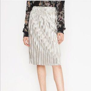 Isabel Marant Metallic Pleated Midi Skirt